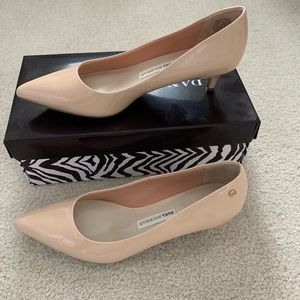 Nude Kitten Heel Pumps - Size 8